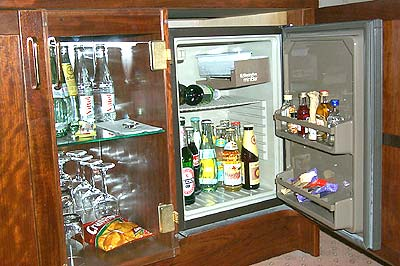 Minibar im Hotel