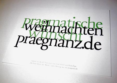 pragmatische Weihnachtenh w�nscht praegnanz.de