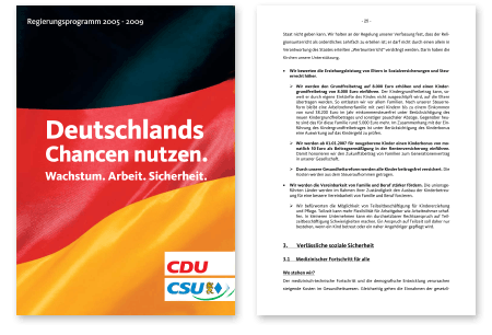 Wahlprogramm Union