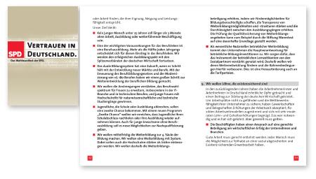 Wahlprogramm SPD